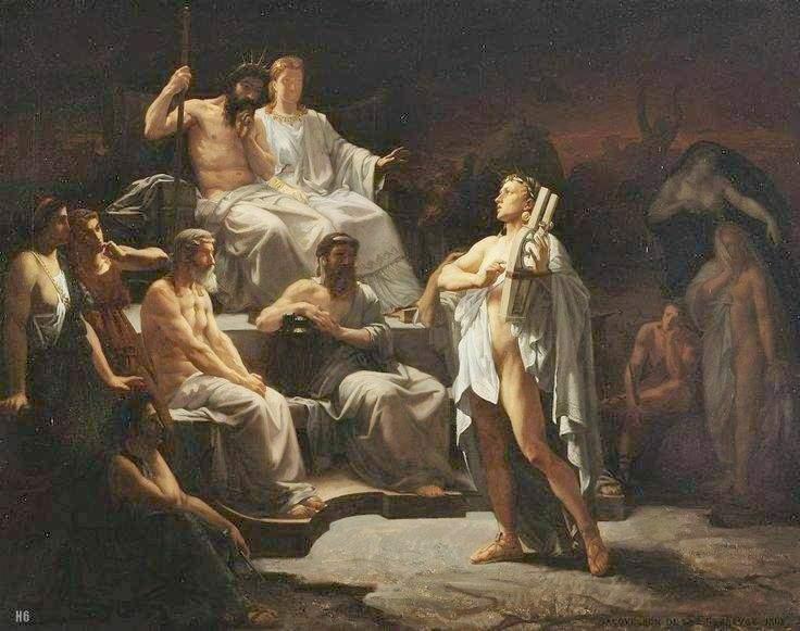 """Jules Louis Machard (1839-1900) """"Орфей в Гадесе"""""""