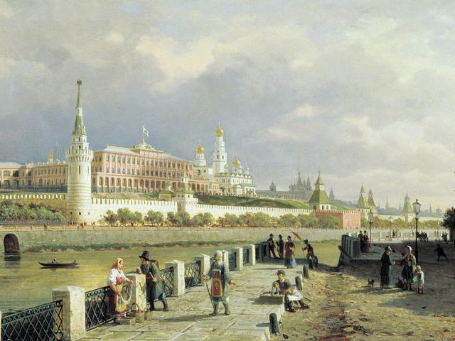"Петр Верещагин ""Вид Московского Кремля"""