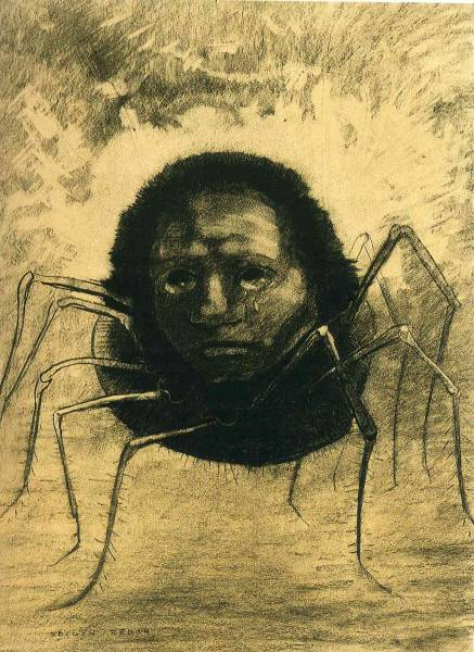 "Редон (Redon) Одилон (20.4.1840, Бордо, ‒ 6.7.1916, Париж) - ""Плачущий паук"""