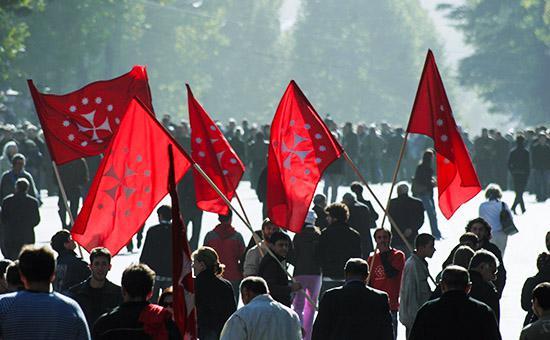 Акция протеста в Грузии, 2007 год -  Фото: РИА Новости