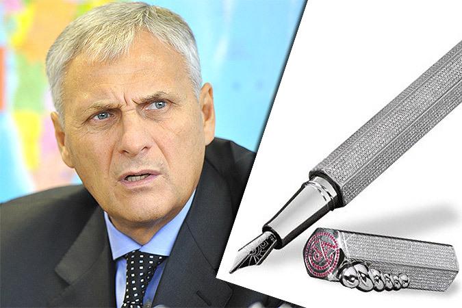 Ручка губернатора Сахалина за 36 млн рублей