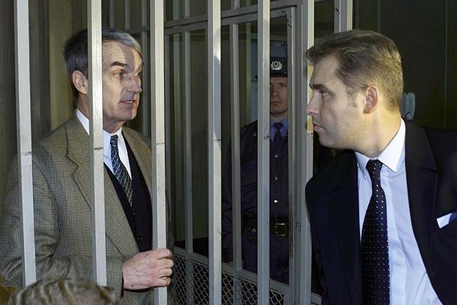 Эдмонд Поуп и Павел Астахов суде. 19 сентября 2000-го. Фото: Игорь Табаков / fotoimedia / ТАСС