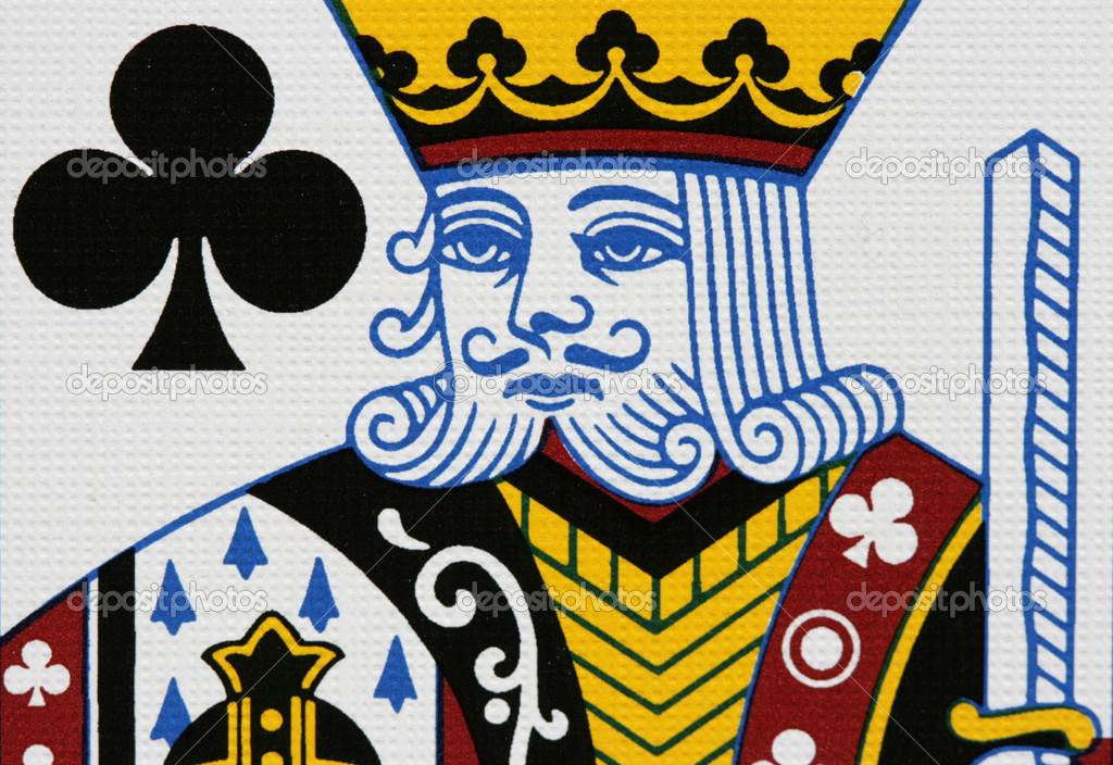 Clubs king portrait close up