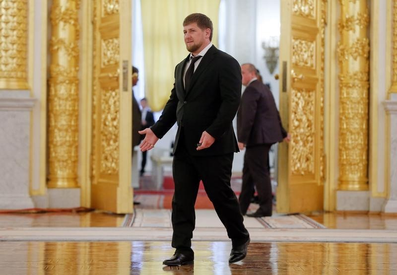 Chechen President Ramzan Kadyrov walks before a meeting of the state council at the Kremlin in Moscow, September 18, 2014. REUTERS/Maxim Shemetov