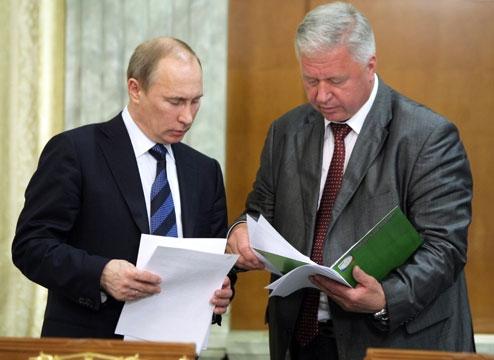 Михаил Шмаков и Владимир Путин