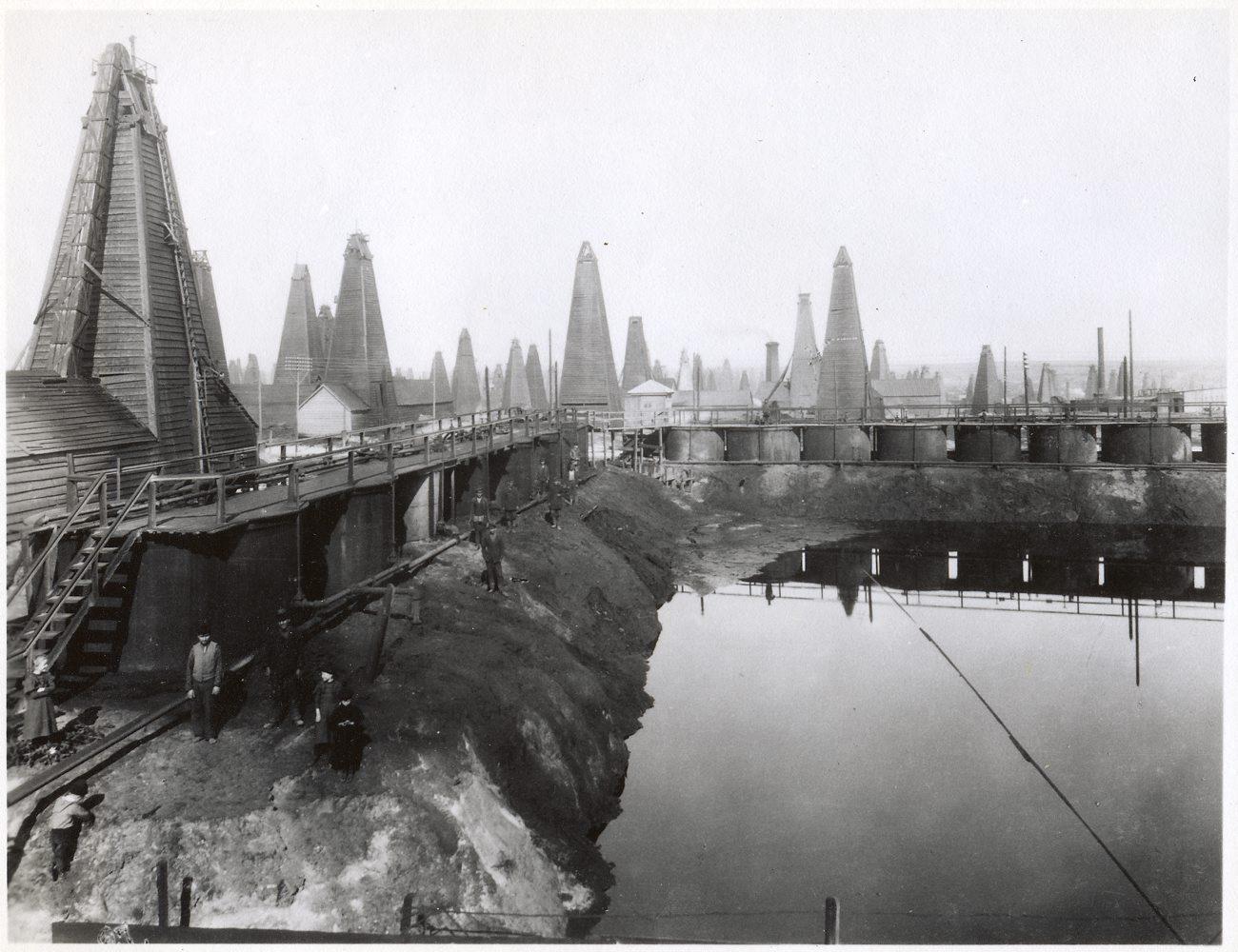 Добыча нефти в Баку в ХIХ веке