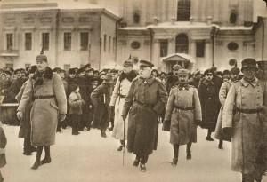 Прибытие немецкой делегации в Брест-Литовск.