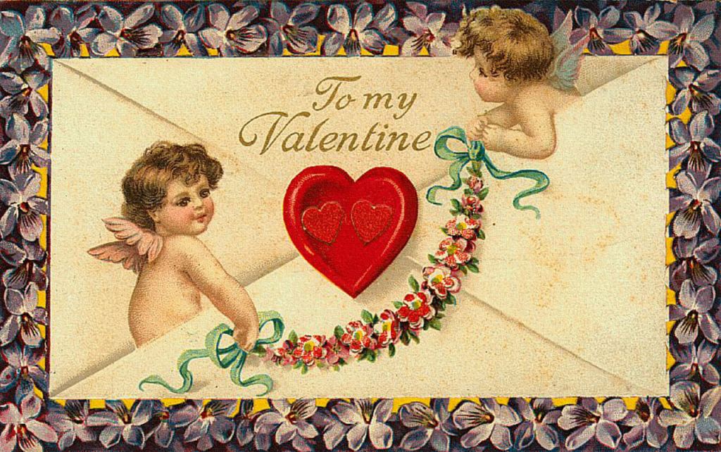 Романтические день влюбленных открытки