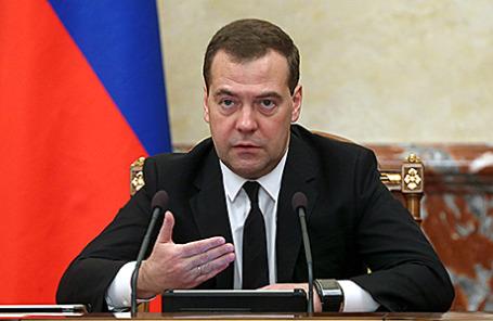 Премьер-министр РФ Дмитрий Медведев во время заседания правительства РФ в Доме правительства, Москва, 11 ноября 2014. Фото: Екатерина Штукина/ТАСС