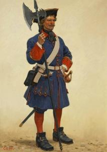 Униформа. Сержант Санкт-Петербургской полиции. Нач. ХVIIIв. Худ. С. Ефошкин