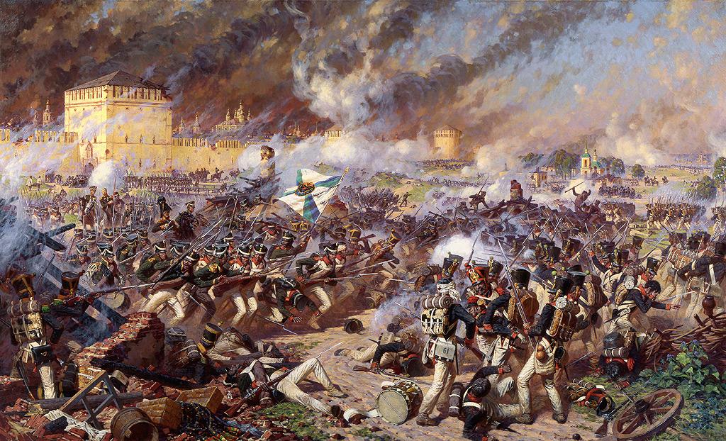 Александр Юрьевич Аверьянов. Оборона Смоленска 5 (17) августа 1812 года. 1994.