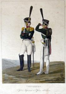 Штаб-офицер и обер-офицер гренадерского полка. Автор: генерал-майор Лев Иванович Киль (1815)