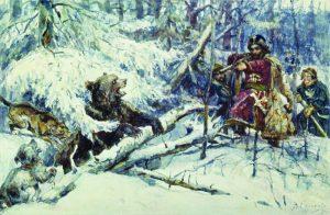 Рис-5.-«Охота-Царя-Михаила-Федоровича-на-медведя».-В.-И.-Суриков.-1898
