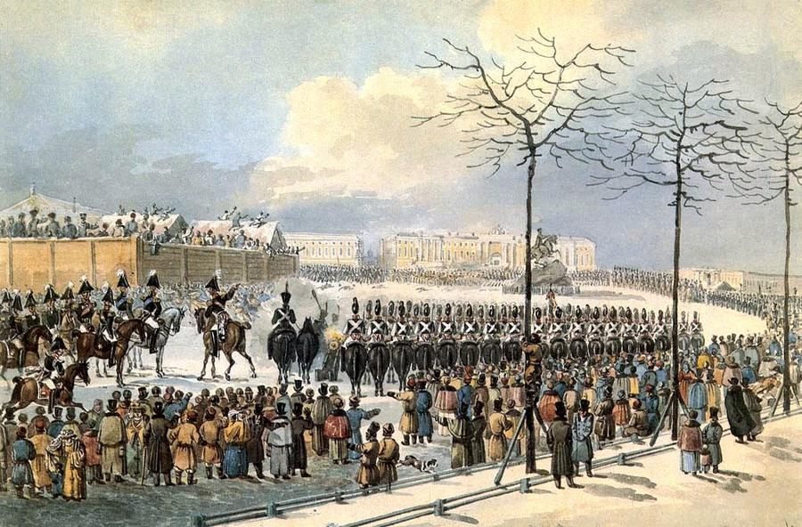 Восстание декабристов на Сенатской площади в Санкт-Петербурге 14 декабря 1825 г. К. Кольман
