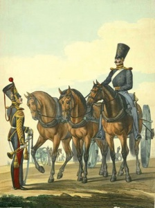 Ездовой и трубач Л.-гв. Конной артиллерии. Литография нач. 1830-х гг.