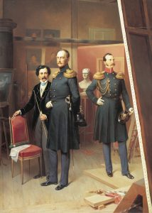 bogdan_villevalde-_nicholas_i_of_russia_and_alexander_nikolayevich_in_1854
