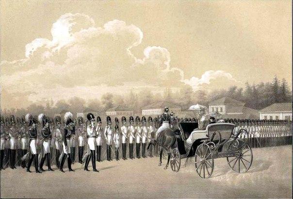 Развод от Кавалергардского полка в Петергофе в день зачисления в сей полк Его Императорского Высочества Наследника Цесаревича 17 июня 1830