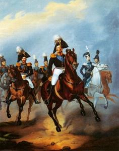 Император Николай I и его приближенные. Худ. Ф. Крюгер. 1830-е гг.