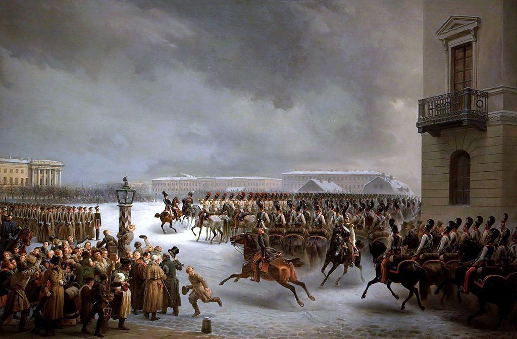 В. Тимм. Восстание 14 декабря 1825 года на Сенатской площади.