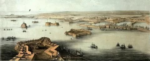 Панорама Кронштадта. СПб., Издание Фельтена в доме Голландской церкви в Санкт-Петербурге, апрель 1854.