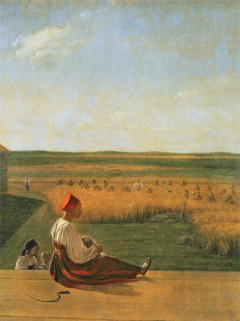 А.Г. Венецианов «На жатве». Конец 20-х – начало 30-х гг. XIX века