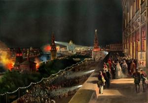 Иллюминация в Кремле