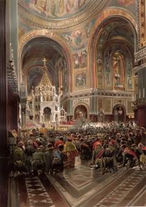 Маковский Н.Е. Освящение Храма Спасителя
