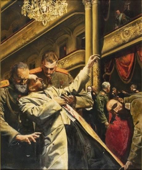 «Убийство Столыпина (1911 г.)». МОРТОН Робертс (Morton Roberts, 1927-1964)