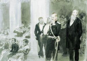 Во время концерта в дворянском собрании. И.Е.Репин