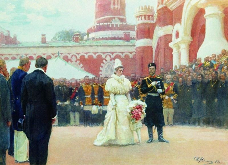Речь Его императорского Величества волостным старшинам и представителям сельского населения окраин России во дворе Петровского дворца 18 мая 1896 года Илья Ефимович Репин