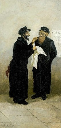 Два еврея. Худ. В. Маковский. 1870-е