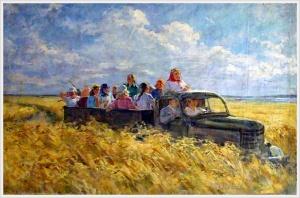 Шемякин Михаил Михайлович (Россия, 1908-2003) «На работу» 1952