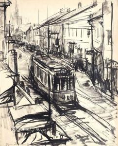 Зенкевич Борис Александрович (1888-1972) «Москва. Улица Волхонка» 1924Kykolnik.lj.ru