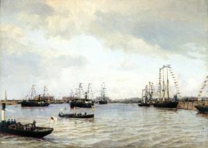 Беггров А.К. Открытие морского канала в Санкт-Петербурге 15 мая 1885 года. Центральный военно-морской музей, Санкт-Петербург.