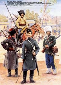 Русская армия в русско-японской войне — Казаки (рис. Андрей Каращук)