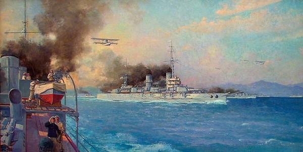 Черноморский флот в море. Конвой, 1916 г.