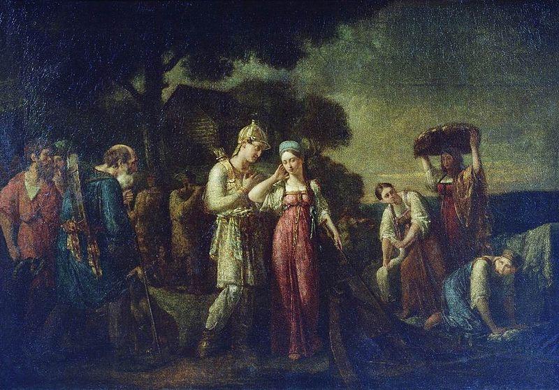 Василий Сазонов Первая встреча князя Игоря с Ольгой Государственная Третьяковская галерея