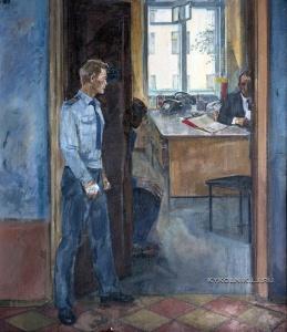 Фурсеев Альберт Анатольевич (1926-1997) «Будни милиции» 1982