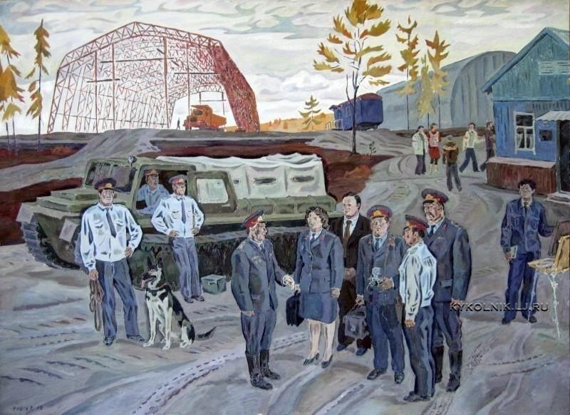 Яушев Рустам Исмаилович (1937) «На задание» из серии «Милиция на БАМе» 1977