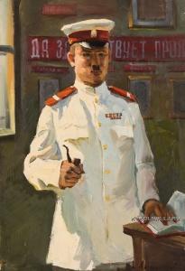 Антонов Фёдор Васильевич (1904-1994) «Портрет сержанта милиции» 1957