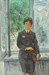 Знак Анатолий Маркович (1939-2002) «Портрет инструктора ГАИ Л.М.Руденко 1974