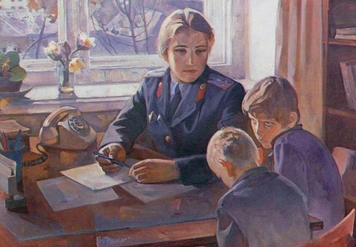 Юркин Александр Владимирович (Россия, 1931) «Серьёзный разговор»