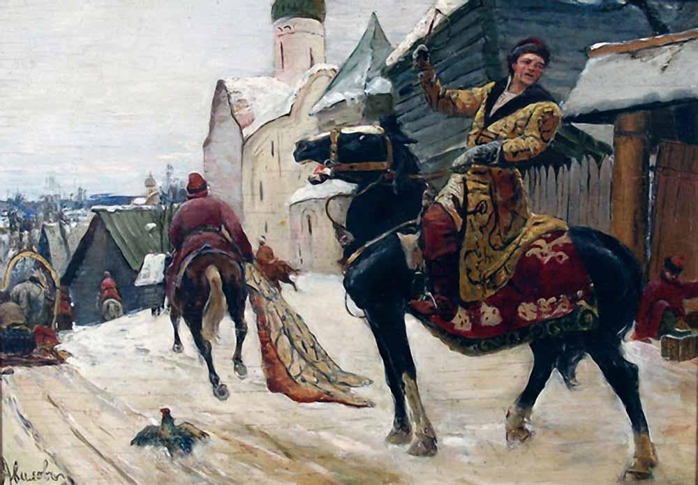 avilov-mihail-ivanovich-oprichniki-v-novgorode