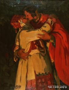 Поцелуй. Горюшкин-Сорокопудов И.С. 1910