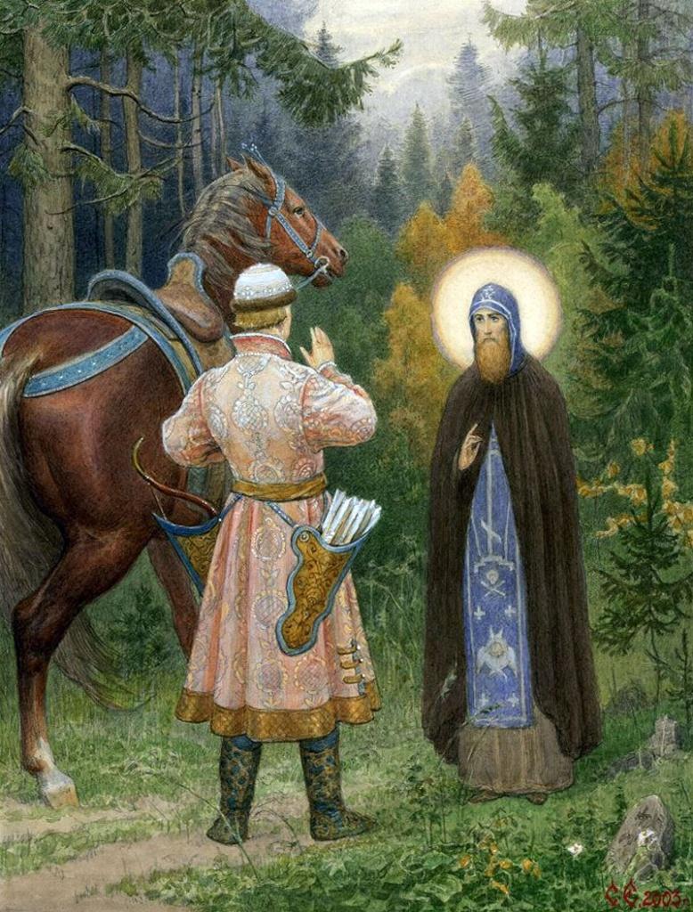 С. Ефошкин. Святой князь Даниил Московский. Явление юноше. XVI век
