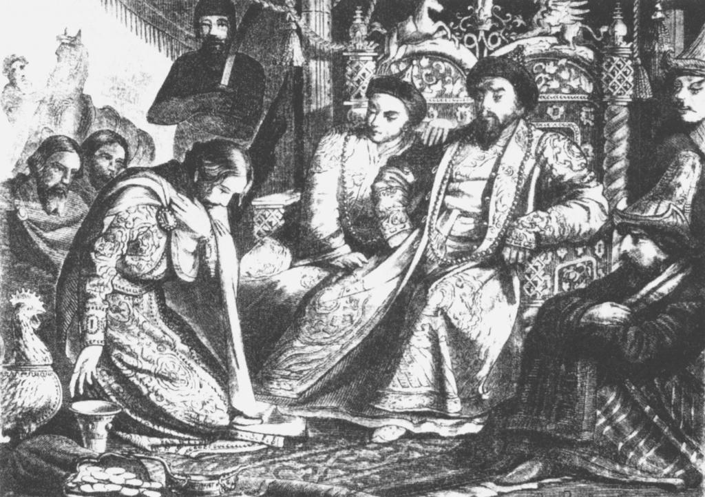 Русский князь в Золотой орде. По рис. Верещагина