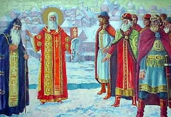 Иван Калита приглашает митрополита Петра в Москву. Смолин А.