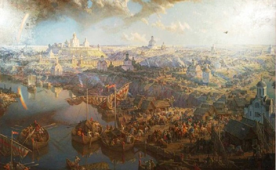 Картина Анатолия Булдакова «Смоленск великокняжеский».