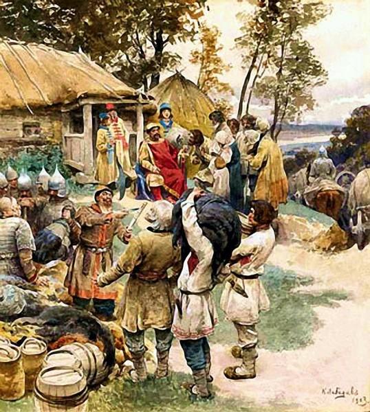 Князь Игорь собирает дань с древлян.136919_600