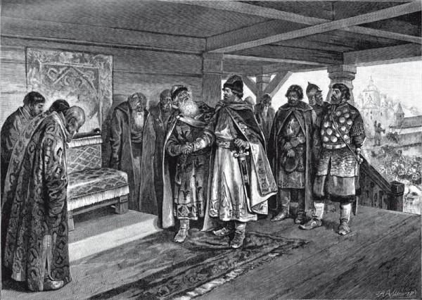 Князь Изяслав Мстиславич предлагает мир и дружбу дяде своему Вячеславу_600